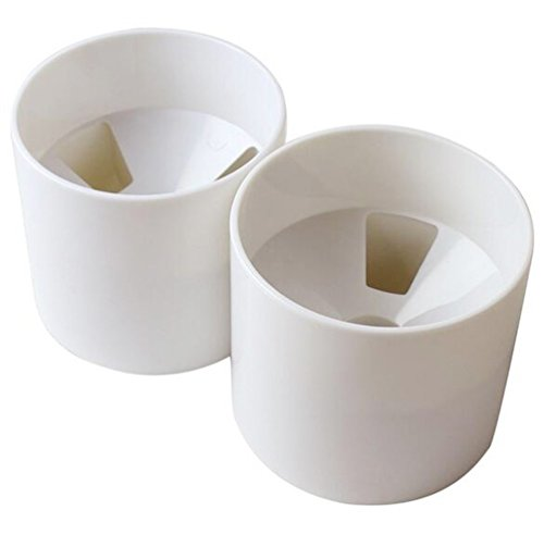 HGTFDI 2pcs Golf Hole Cup for Putter Yard Garden Training Backyard Practice training Golf Cup( White Plastic Cup)