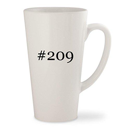 #209 - White Hashtag 17oz Ceramic Latte Mug Cup