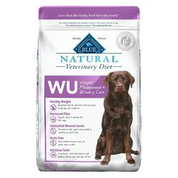 Blue Natural Veterinary Diet WU Weight Management + Urinary Care Dry Dog Food 22 lb