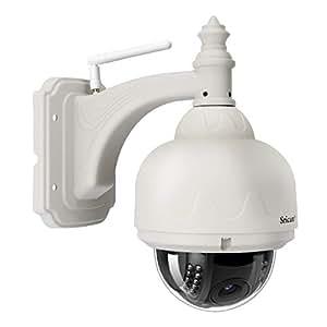 SRICAM SP015 Cámara de Vigilancia IP con IR Vision Nocturna, IP66 Impermeable Seguridad Inalámbrica HD 720P IP Cámara Web CAM Detección de Movimiento, EU Enchufe