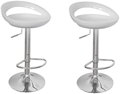Immagini Di Sgabelli.Vidaxl Coppia Di Sgabelli Bianchi Plastica Per Bar Cucina 1 Sgabello 1 Gratis