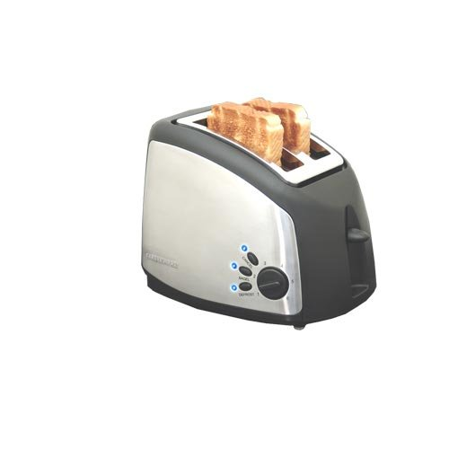 Farberware FAC250T Millennium 2-Slice Toaster, Stainless Steel and Black