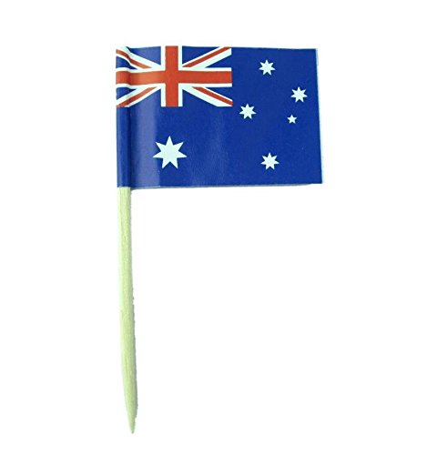 Australia Dress Up (Australia |Australian Flag Toothpicks | National Flags Food Picks for Bento Box Lunch Box(140 Count))