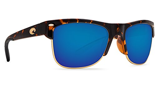 Costa Del Mar PW66OBMP Pawleys Sunglass, Retro Tortoise Frame Blue - Pawleys Costa Sunglasses