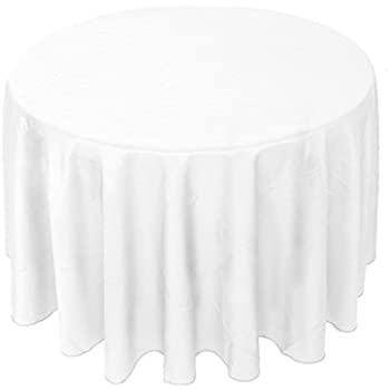 YooDaa Linen 90 Inch Round Tablecloth, Polyester Washable Table Cloth For  Restaurant Banquet Parties Wedding