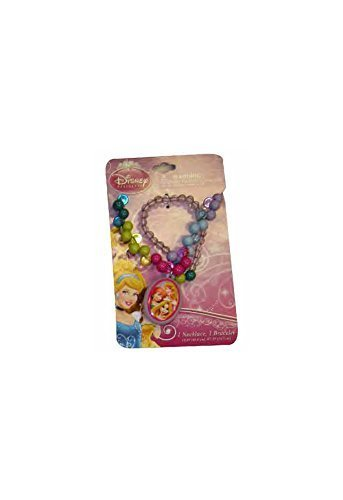 Disney Girls Princess Girls Dress Up Jewelry - Bead Necklace and Bracelet Set