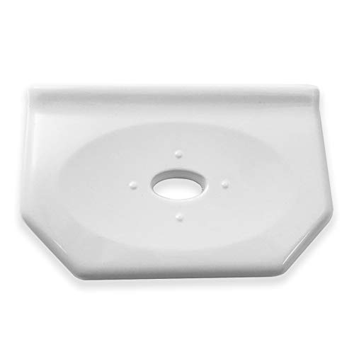 Questech Geo Floating Soap Dish 6 inch Bathroom Shower Soap Holder | Wall Mounted Soap Dish (Polished White)