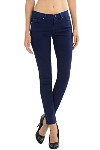 Low Rise Stretch Blue Jeans - 3