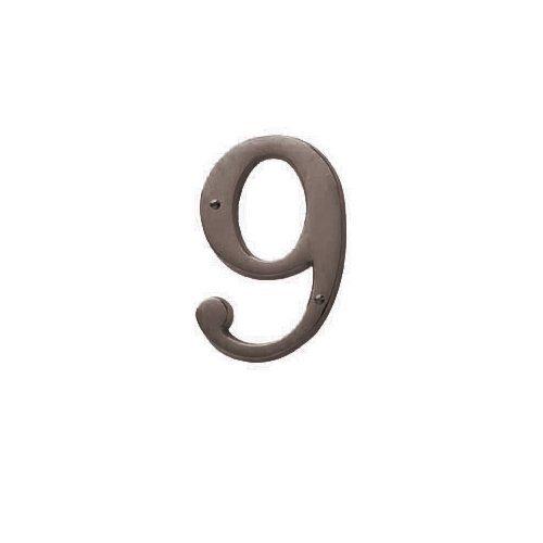 Baldwin Estate 90679.112.CD Solid Brass Traditional House Number Nine in Venetian Bronze, ()