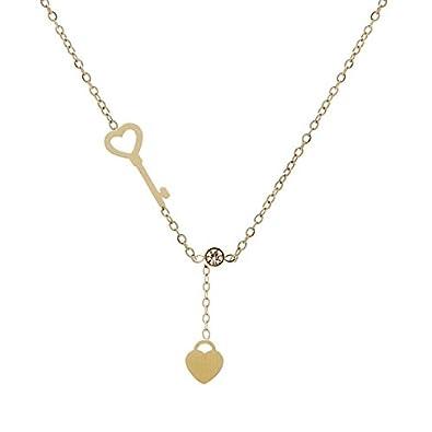Zag Bijoux Collier Clef et Coeur (doré Jaune)  Amazon.fr  Bijoux 3659accdb5b4