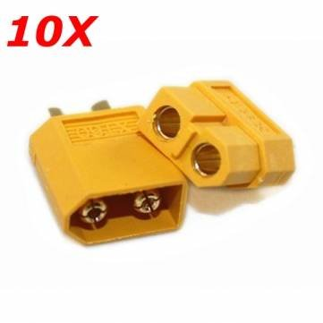[10X XT60 Male Female Bullet Connectors Plugs For RC Battery by toyforyoustore] (Female Robot Costumes)