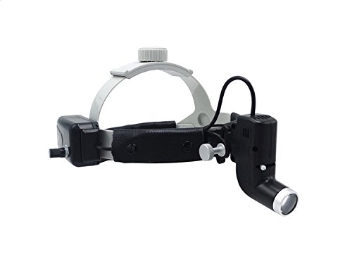 NSKI ENT Specific 5W LED Surgical Headlight Good Light Spot Converging DY-002 Size Adjustable Black