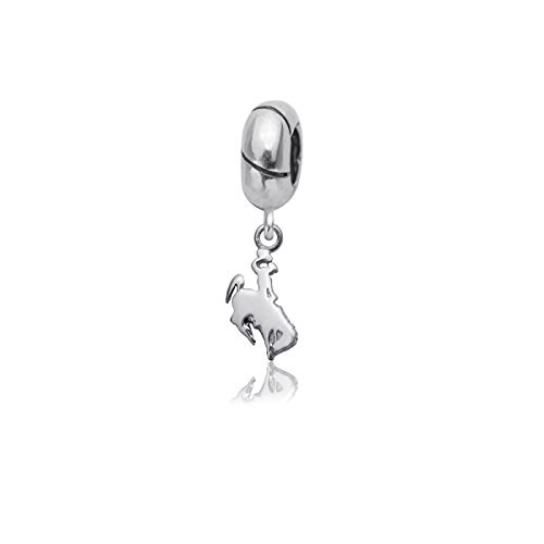 University of Wyoming Cowboys Sterling Silver Jewelry by Dayna Designs (Charm Bead)