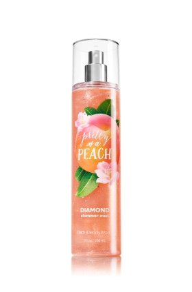 (Bath and Body Works Pretty As A Peach Diamond Shimmer Mist Spray 8 Ounce)