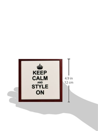 5-Inch 3dRose ph/_157732/_1 Keep Calm and Style on Carry on Styling Fashion Stylist Hairstylist Hairdresser Gift Fun Humor Tile Pen Holder