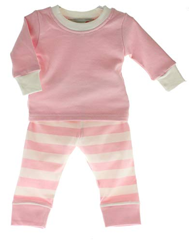 Hiccups Childrens Boutique Infant Toddler Girls Pajama Set Cotton Pink White Stripe Easter - Easter Boutique