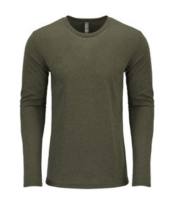 Army Outfit Men (Next Level Men's Performance Blended Long Sleeve Jersey, 2XL, Military Green)