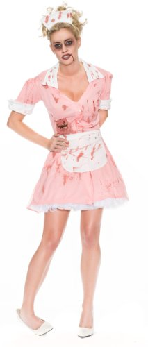 [Delicious Zombie Waitress Costume, Multi, X-Small] (Secret Agent Halloween Costume For Kids)