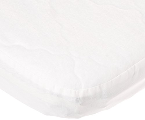 BabyDoll Bedding Fitted  Waterproof Cradle Mattress Protector, 15x33, white