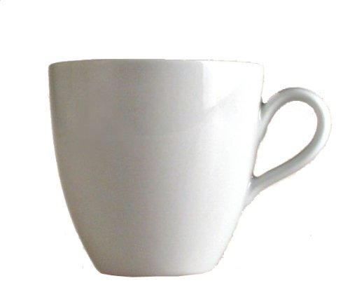 Alessi Mami 3-1/4-Inch Coffee Cup, White Porcelain, Set of 6
