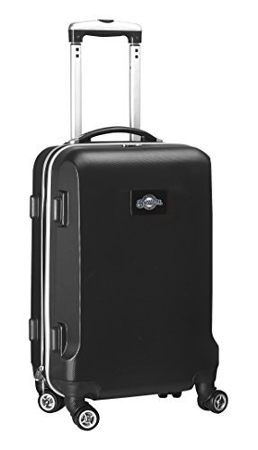 MLB Milwaukee Brewers Carry-On Hardcase Spinner, Black by Denco