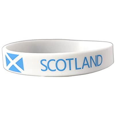Komonee Scotland White World Cup Olympics Silicone Wristbands Pack Estimated Price £3.25 -