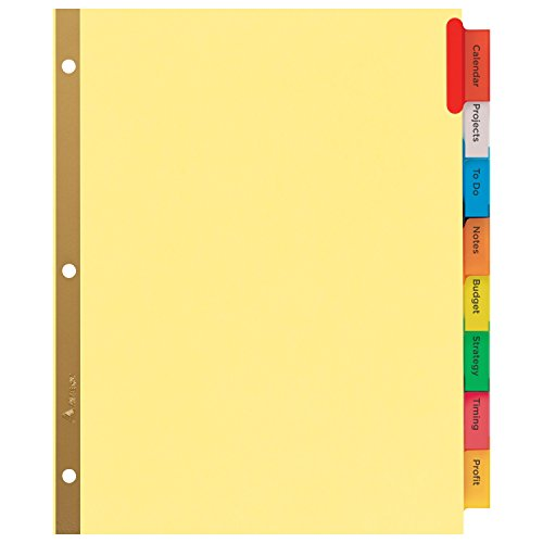 Avery big tab insertable dividers buff paper 8 for Avery big tab inserts for dividers 8 tab template