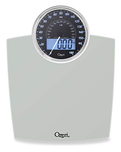 Ozeri Rev 400 lbs (180 kg) Bathroom Scale with Electro-Mechanical Weight Dial and 50 gram Sensor Technology (0.1 lbs / 0.05 kg)