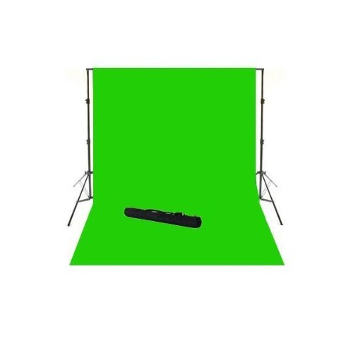 ePhoto 901 10x20 ft Large Chromakey Green Screen with Support Stands Kit with Carrying ()