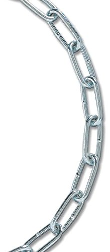 Koch Industries A10911 No. 4 Coil Straight Electro Galvanized Chain, 10-Feet, Zinc Plated