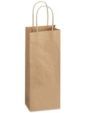 再生紙ショッピングバッグ 5 12 x 3 14 x 12 12インチ ワイン B072PR1TW3