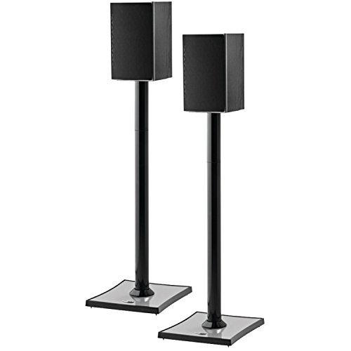OmniMount GEMINI2B Bookshelf Speaker Stand, Black by OmniMount