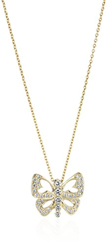 Roberto Coin 18K Yellow Pave Diamond Butterfly Tiny Treasure Necklace (Diamond Necklace Roberto Coin / 18k)
