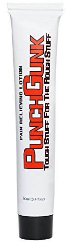 Punch Gunk Pain Reliever Lotion 3.4 fl.oz. Tube - Fast Effective Pain Relief, Light & Non-Greasy - Ideal for Combat Athletes (1)
