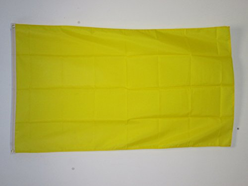 PLAIN YELLOW FLAG 3' x 5' - YELLOW SOLID COLOR FLAGS 90 x 15