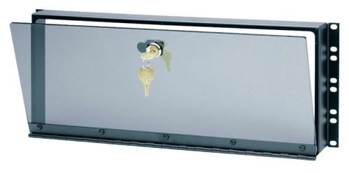 Hinged Plexiglass Security Cover for Rackmounts Height: 14'' H (8U space)