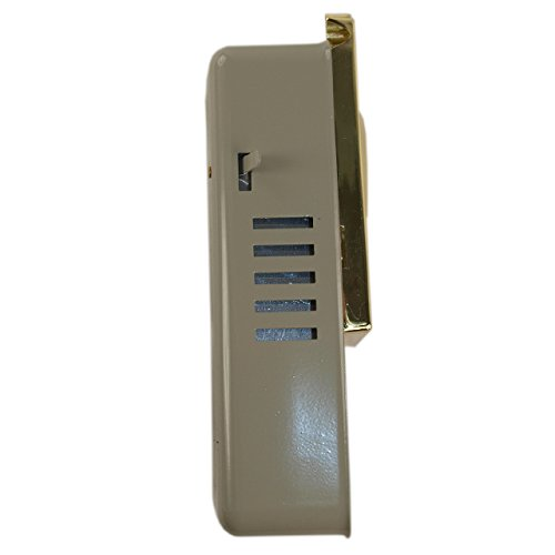 Maxtech DV10 Polished Brass US3 Door Viewer And Non Electric Chime Combination by Marks USA