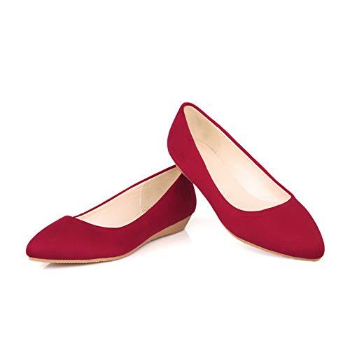 Compensées AdeeSu Sandales SDC05512 Red Femme SXxxE47q