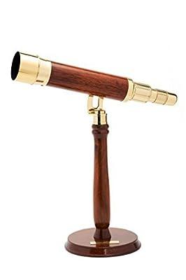 Celestron 22302 Ambassador 50 Brass Table Top Telescope (Brass)