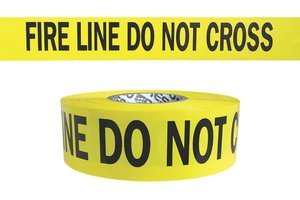 3'' x 1000' 3 mil Yellow''FIRE LINE DO NOT CROSS'' Hazard Warning Barricade Tape by PRESCO PRODUCTS