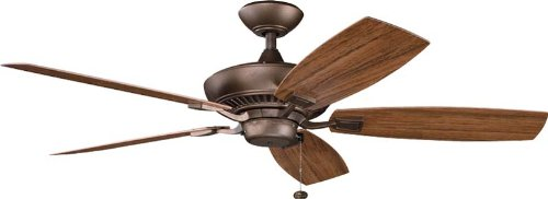 (Kichler 310192WCP 52-Inch Canfield Patio Fan, Weathered Copper Powder Coat)