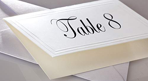 - Blank White Fold Over Embossed Premium Heavy Weight Enclosure Cards and Envelopes - 50 PACK