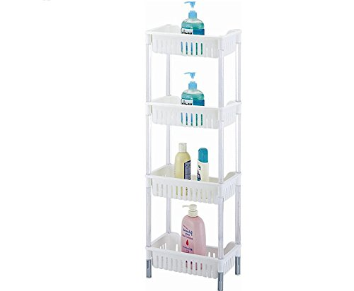 ABOVE EDGE 4-Tiered Plastic Storage Basket Shelves
