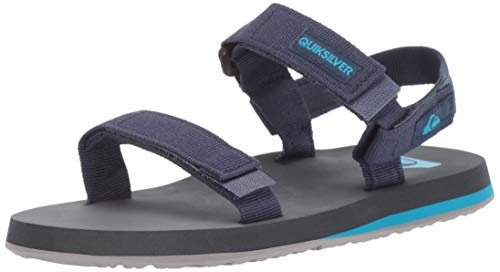 Quiksilver Boys' Monkey Caged Youth Sandal, Grey/Blue, 1(32) M US Little Kid