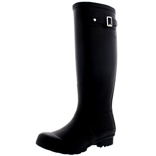 - Polar Products Womens Original Tall Snow Winter Wellington Waterproof Rain Wellies Boot - Black - 10-41 - CD0001