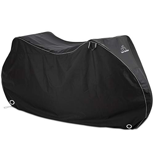 DAVANDI Bike Cover XL - Waterproof Outdoor Bicycle Storage for 2 Bikes - Heavy Duty Ripstop Material - Offers Constant Protection for All Types of Bicycles All Through The 4 Seasons