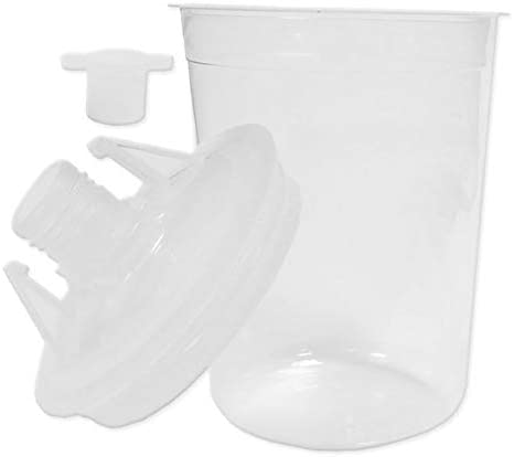 21oz Disposable Paint Cup Kit Includes 50 Lids and 50 Liners 125 Micron Filters Comparable to 3M 16000 and 3M 16300