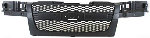 Grille Assembly Compatible with 2004-2012 Chevrolet Colorado Mesh Insert Paintable Shell and Insert 2-Piece Design