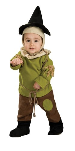 Wizard Of Oz Scarecrow Romper Costume, 6-12 Months]()