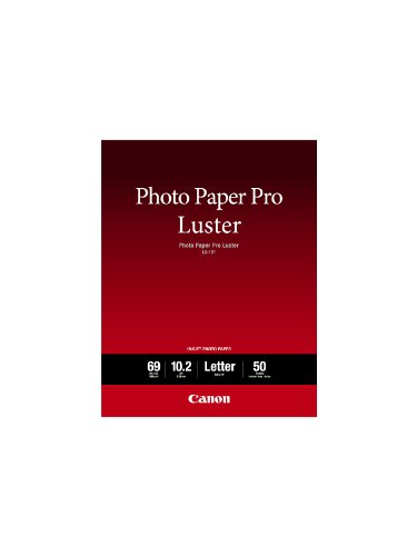 Canon Luster Photo Paper Letter, 50 Sheets (LU-101 LTR)
